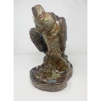 Bird Ceramic By Arthur Craco - Belgium 1970s