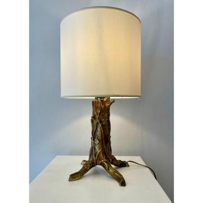 Gilt Bronze Tree Lamp - C.1920