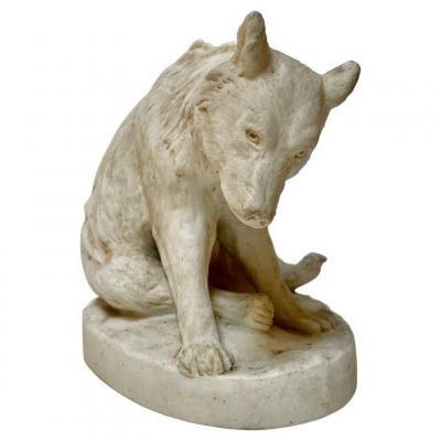 Ours En Céramique Par Stellmacher Teplitz, 19e Siècle