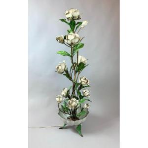 Lampadaire Fleur En Metal - 1940s