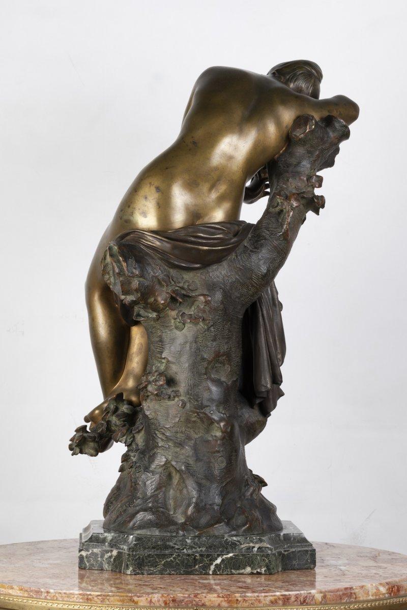 """A French 19th Century Bronze """"le Repos De Venus"""" Signed Lucas Madrassi (1849-1919).-photo-3"""