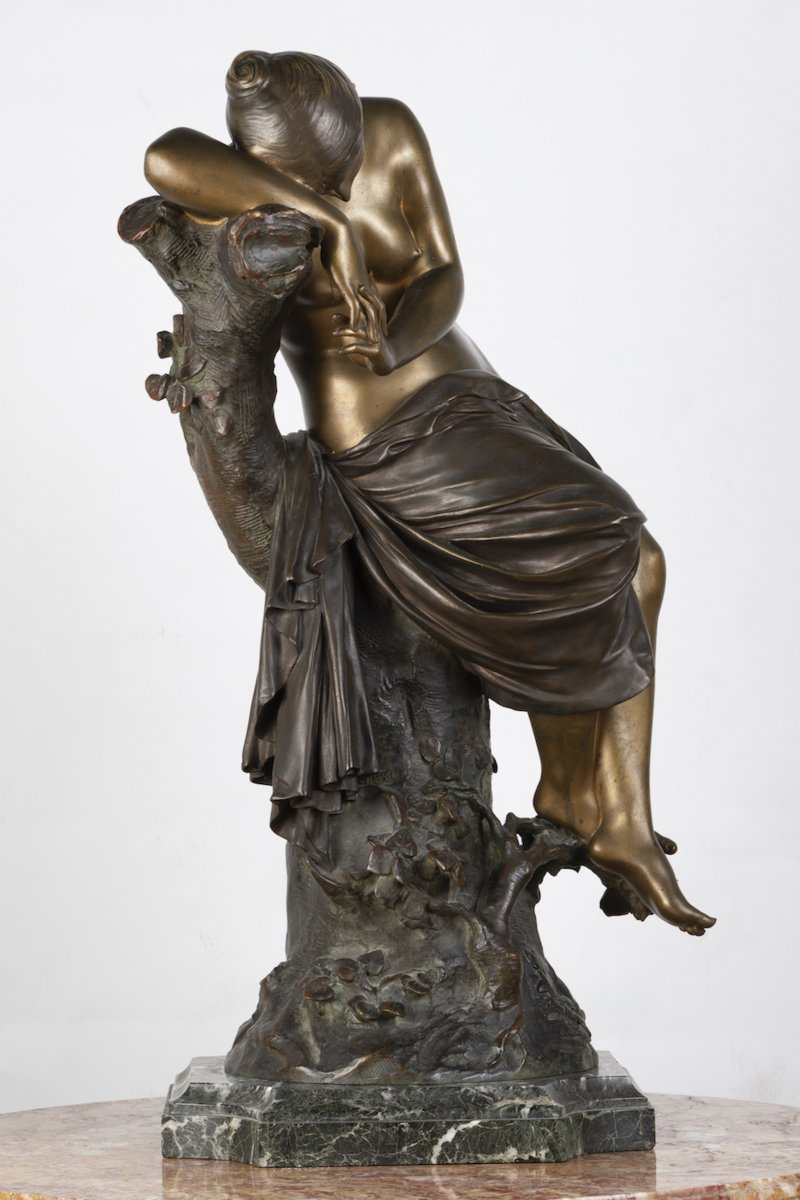 """A French 19th Century Bronze """"le Repos De Venus"""" Signed Lucas Madrassi (1849-1919).-photo-4"""