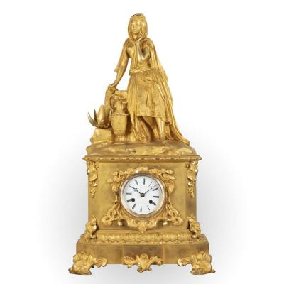 A French 19th Century Louis Philippe Ormulu Orientalist Clock
