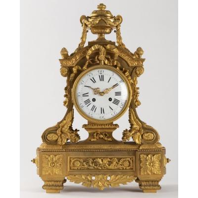 A Stunning French 19th Century Louis XVI St. Ormolu Clock.