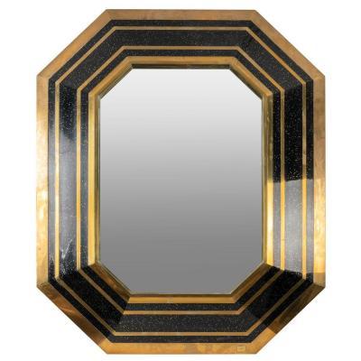 Charmant Et Décoratif Miroir XXème Par J-c Mahey