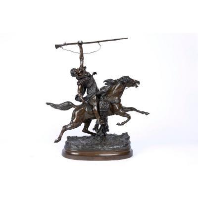 Bronze Orientaliste Du XIXe Siècle «la Fantaisie Arabe» Prosper Lecourtier (1851-1924)