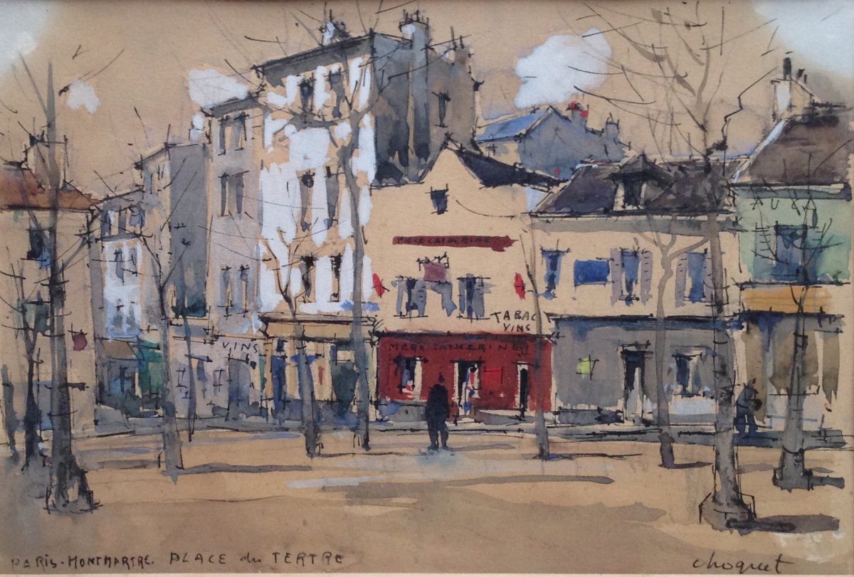 Paris, Place Du Tertre By Jules Charles Choquet (1846-1932)