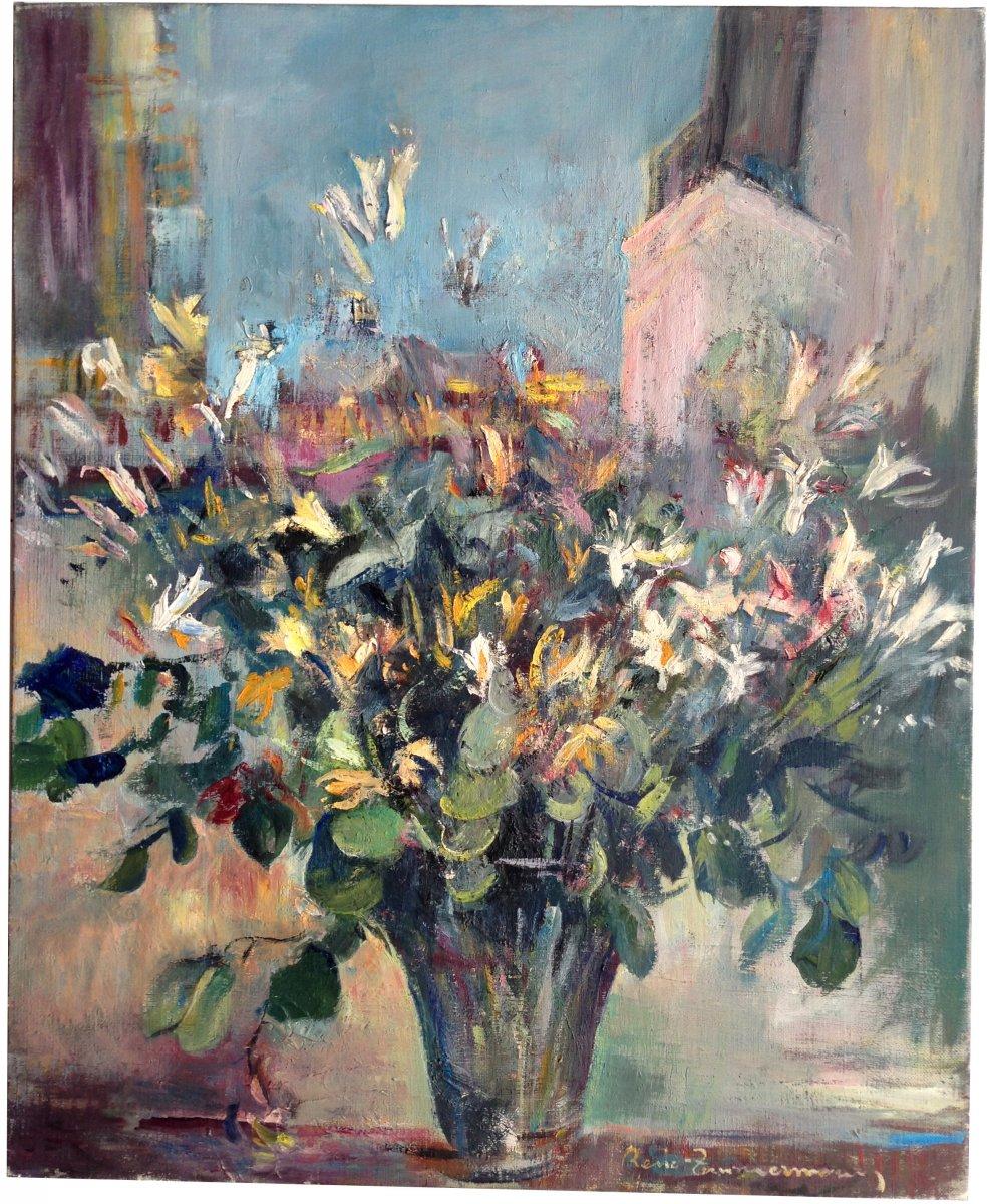 René Zimmermann (1904-1991) - Bouquet Of Country Flowers