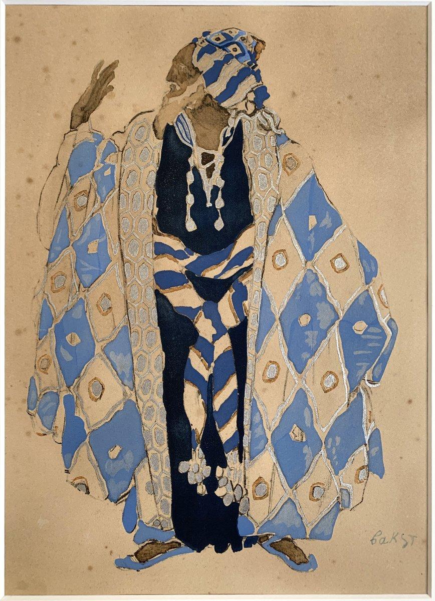 Leon Bakst - Costume For Ivan Le Terrible, 1911 - Enhanced Lithograph-photo-2