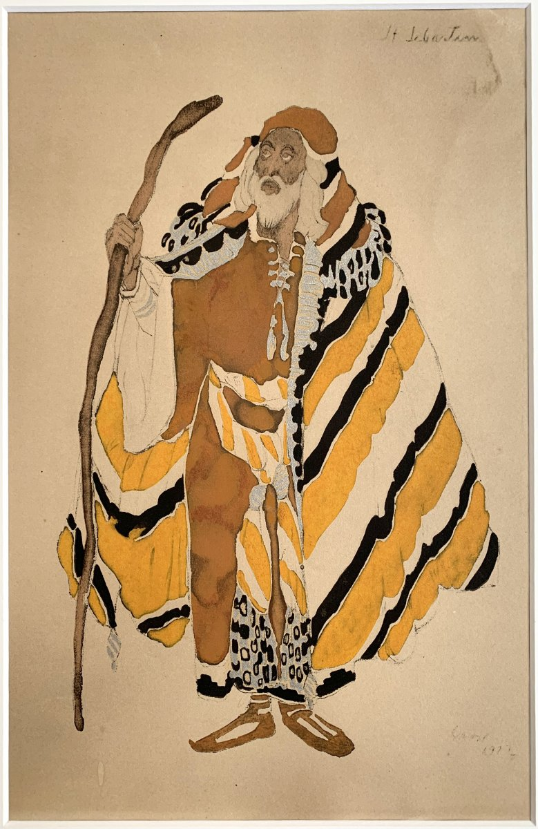 Leon Bakst - Costume For Ivan Le Terrible, 1911 - Enhanced Lithograph-photo-3
