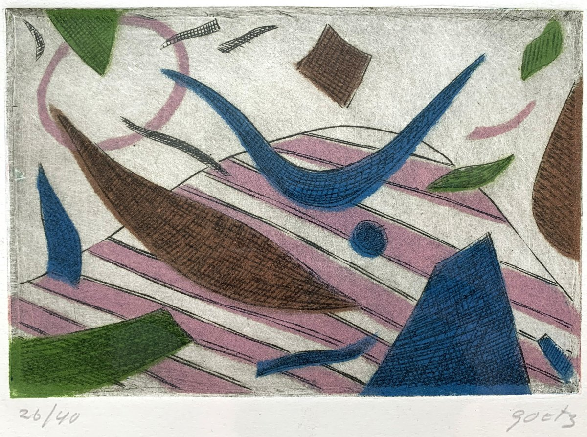 Henri Goetz (1909-1989) - Abstract Composition - Aquatint