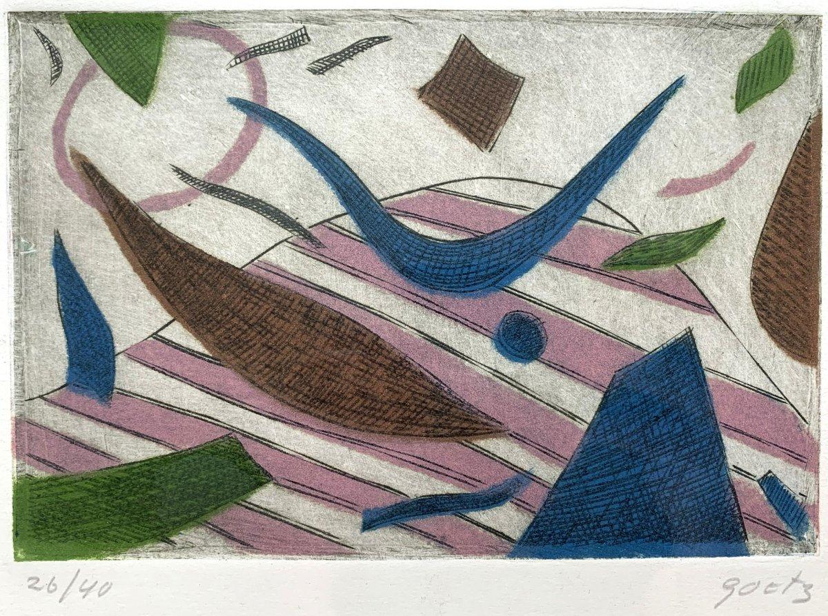 Henri GOETZ (1909-1989) - Composition abstraite - Aquatinte