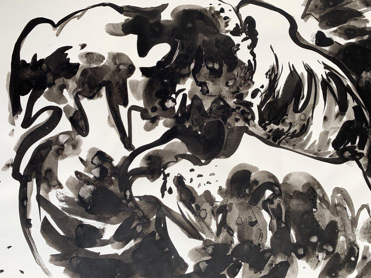 Edouard PIGNON (1905-1993) - Combat de coqs - Nouvelle école de Paris-photo-4