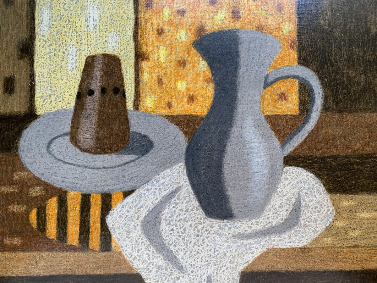 André Even (1918-1997) - Still Life With Pitcher - Signed Painting