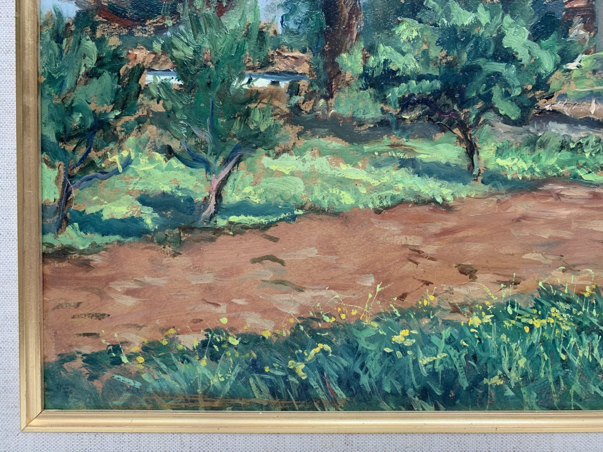 Pierre Bertrand (1884-1975) - Landscape Of Provence - Oil-photo-1