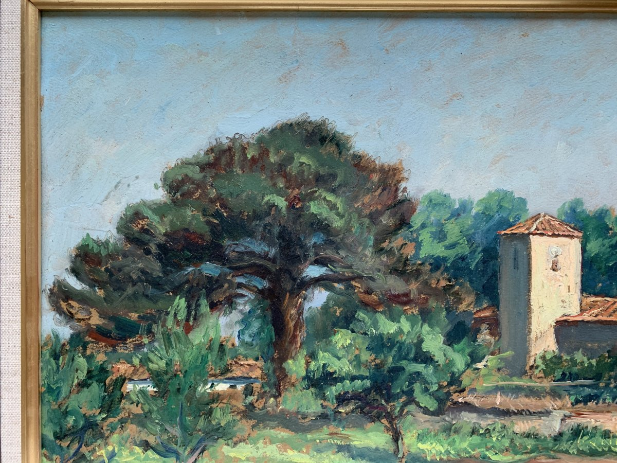 Pierre Bertrand (1884-1975) - Landscape Of Provence - Oil-photo-2