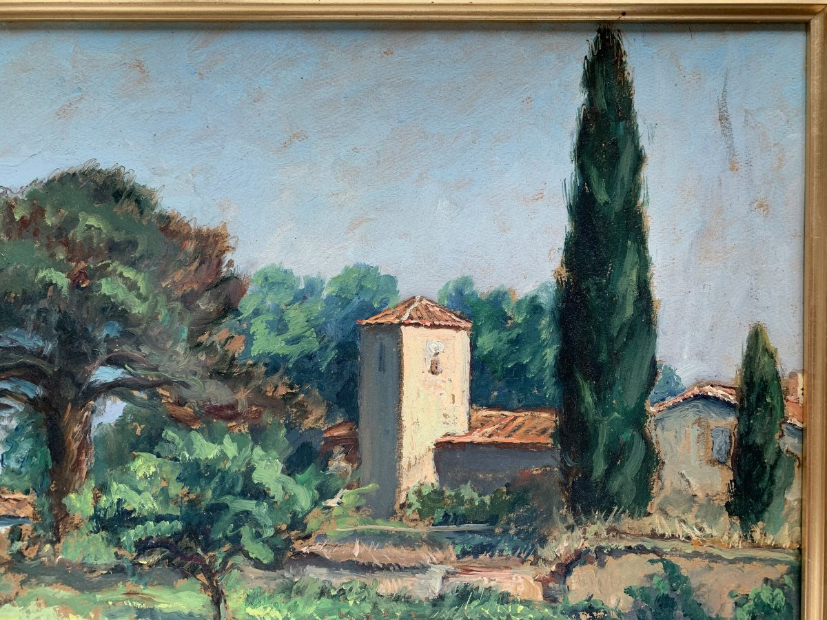 Pierre Bertrand (1884-1975) - Landscape Of Provence - Oil-photo-3