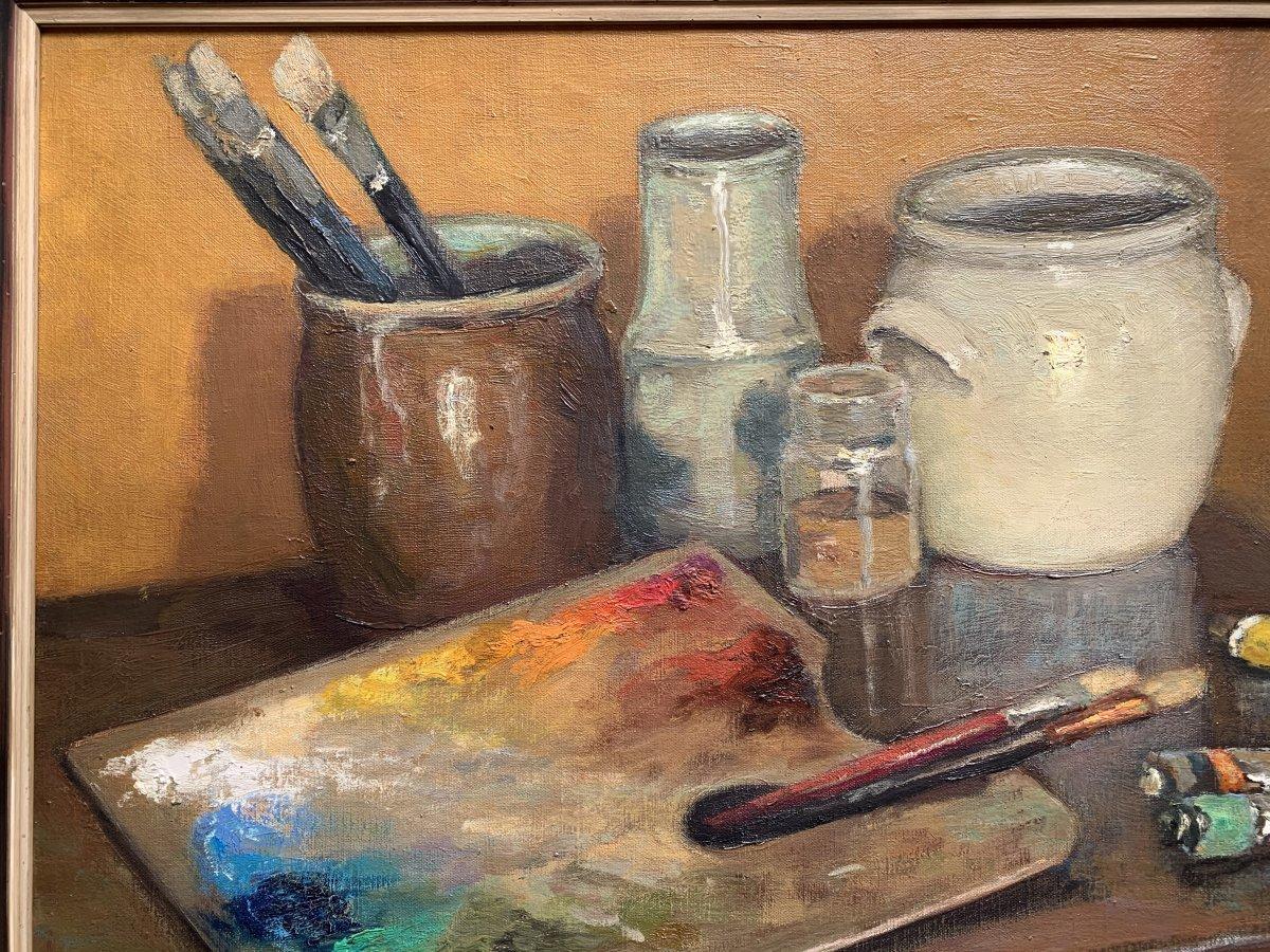 Marco De Gastyne (1889-1982) - The Painter's Palette - Prix De Rome In 1911-photo-1
