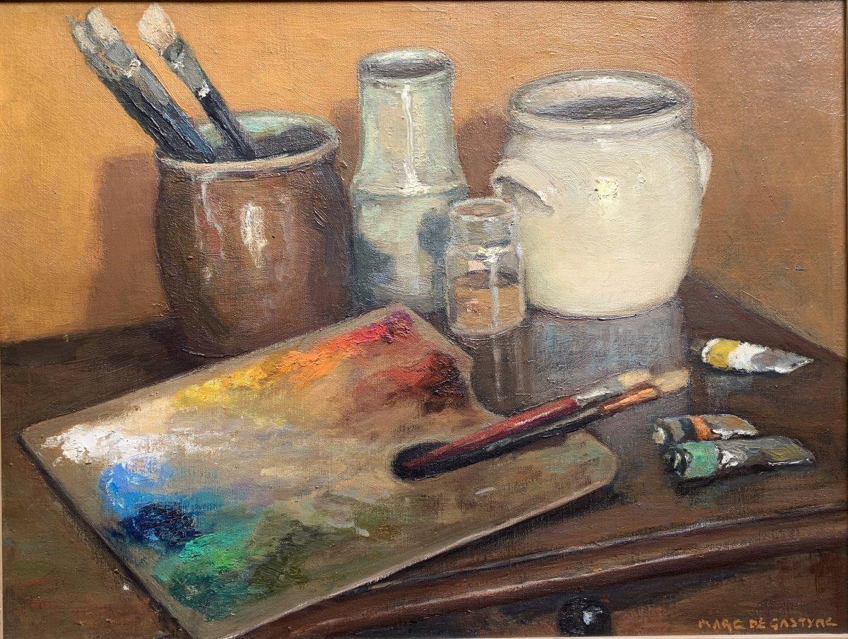 Marco De Gastyne (1889-1982) - The Painter's Palette - Prix De Rome In 1911