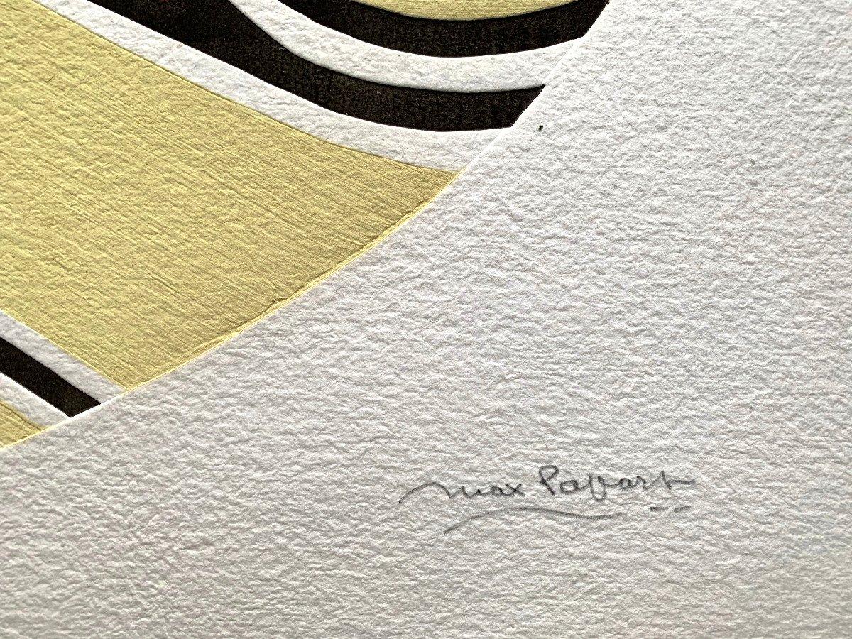 Max Papart (1911-1994) - Woman's Profile - Carborundum Engraving-photo-4