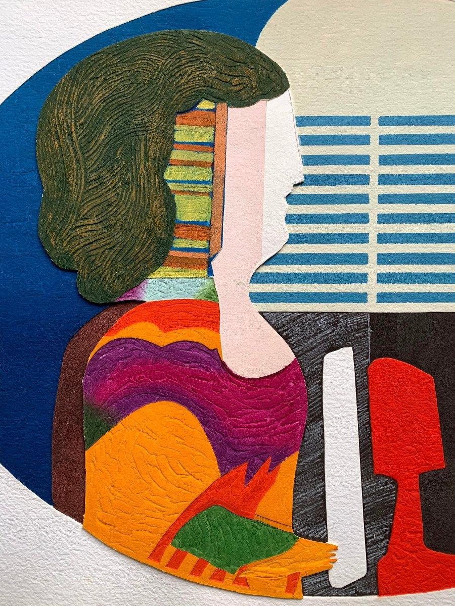Max Papart (1911-1994) - Woman's Profile - Carborundum Engraving-photo-2