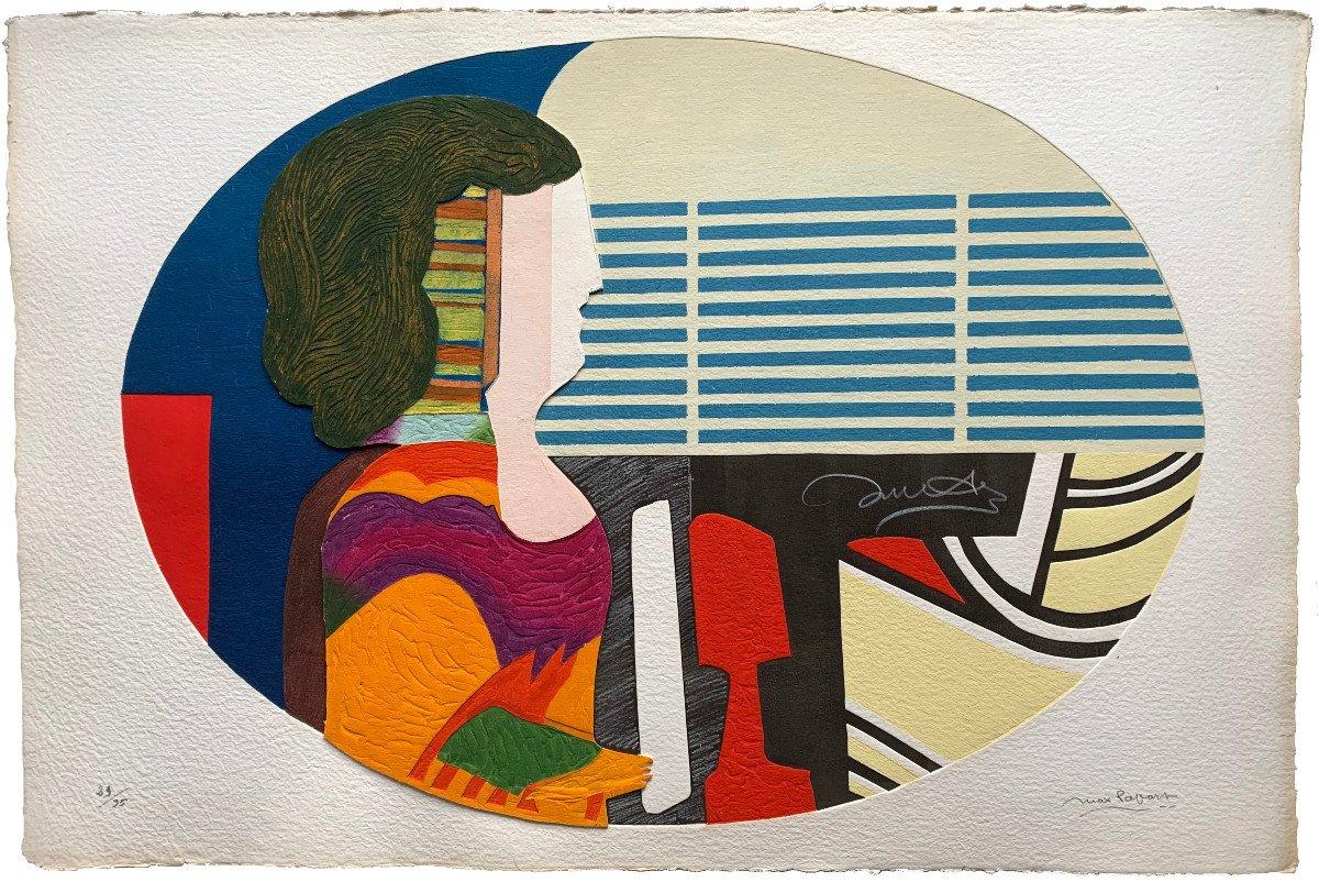 Max Papart (1911-1994) - Woman's Profile - Carborundum Engraving
