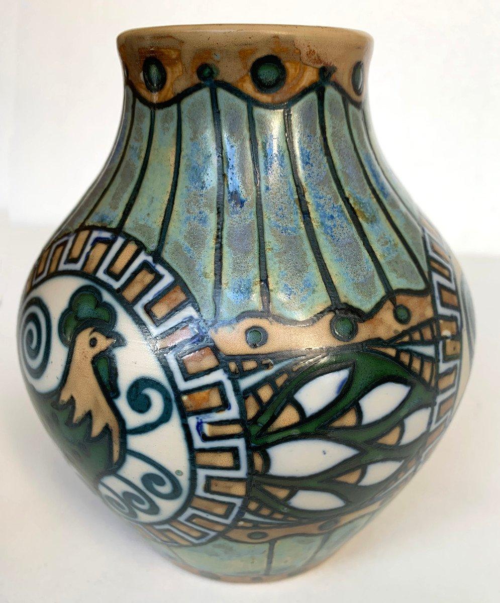Keramis Stoneware Vase - Charles Catteau - Art Deco - 1920 - Atelier De Fantaisie-photo-1