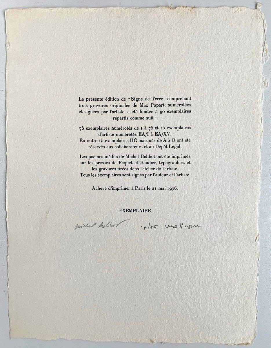 Max Papart - 3 Carborundum Etchings - Portfolio, 1976-photo-2