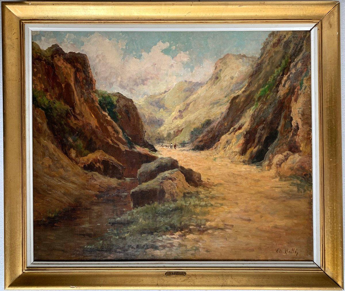 Charles Hallé (1867-1924) - Crozant School - Animated Landscape - Oil On Canvas-photo-2