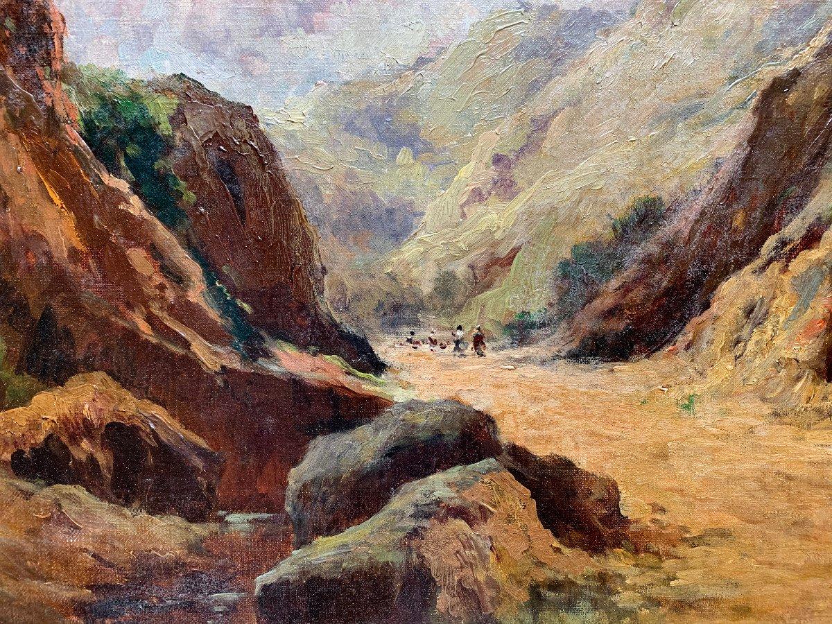 Charles Hallé (1867-1924) - Crozant School - Animated Landscape - Oil On Canvas-photo-3