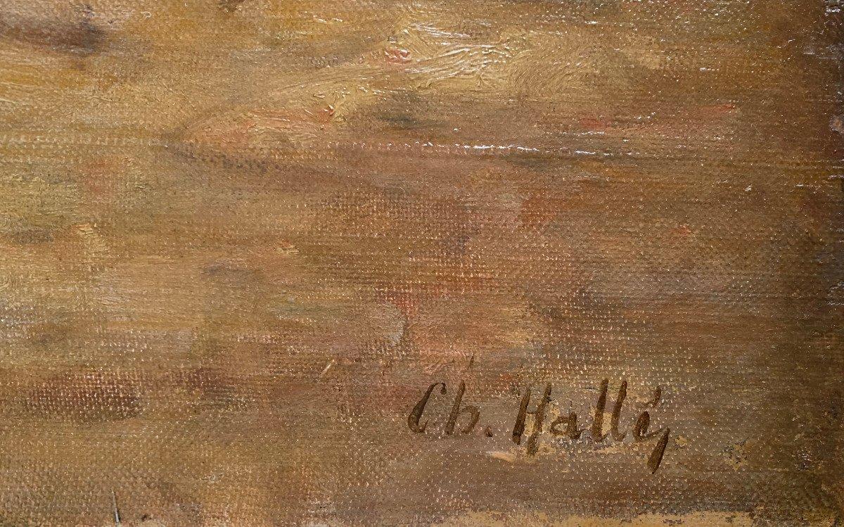 Charles Hallé (1867-1924) - Crozant School - Animated Landscape - Oil On Canvas-photo-4
