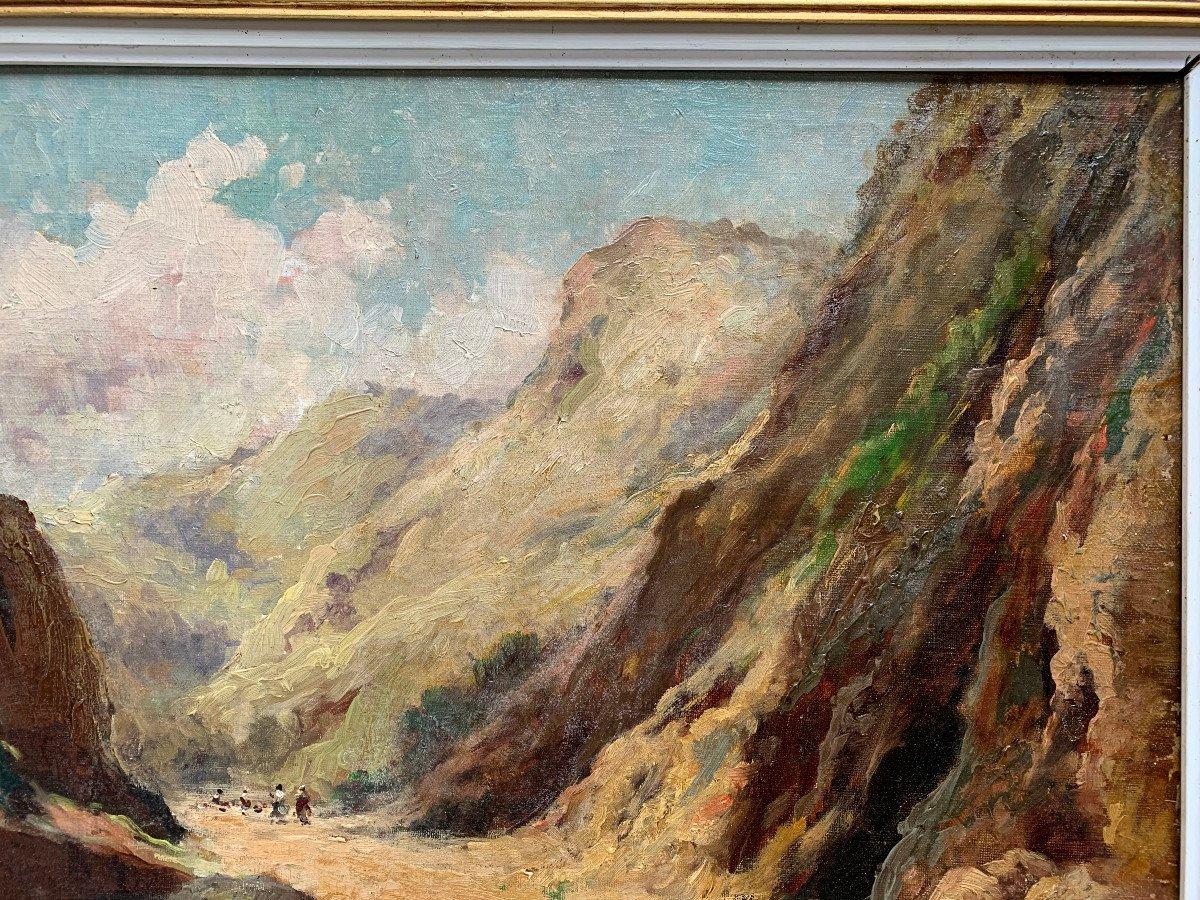 Charles Hallé (1867-1924) - Crozant School - Animated Landscape - Oil On Canvas-photo-1