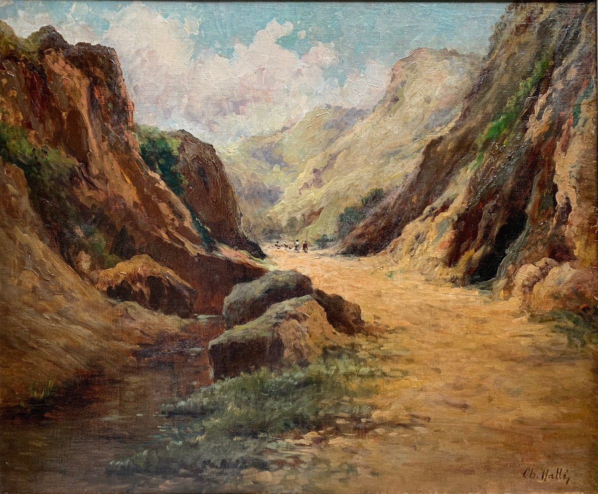Charles Hallé (1867-1924) - Crozant School - Animated Landscape - Oil On Canvas