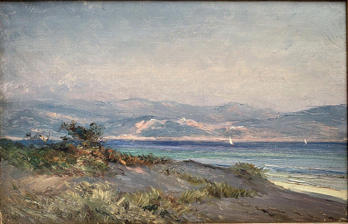Emile Wegelin (1875-1962) - Sailboats On Lake Geneva - Oil On Canvas-photo-2