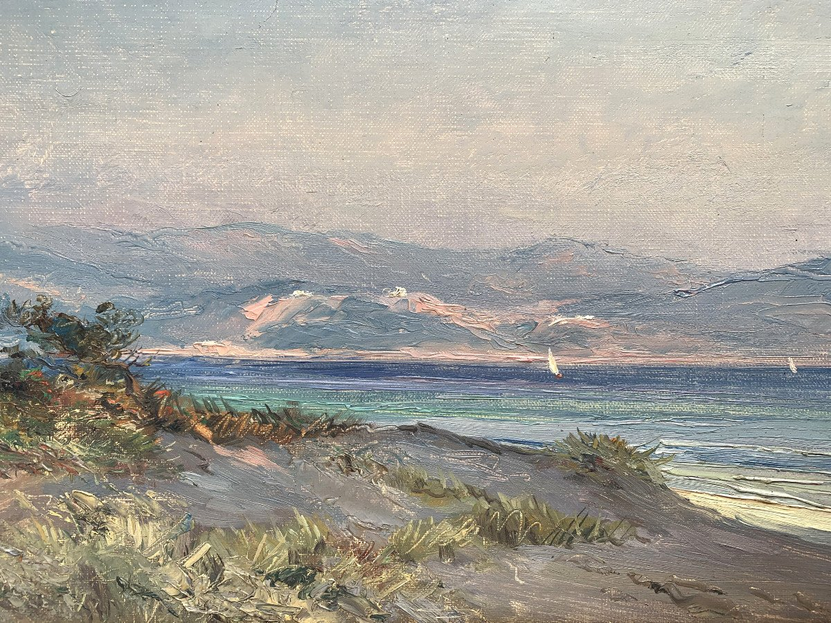 Emile Wegelin (1875-1962) - Sailboats On Lake Geneva - Oil On Canvas-photo-3
