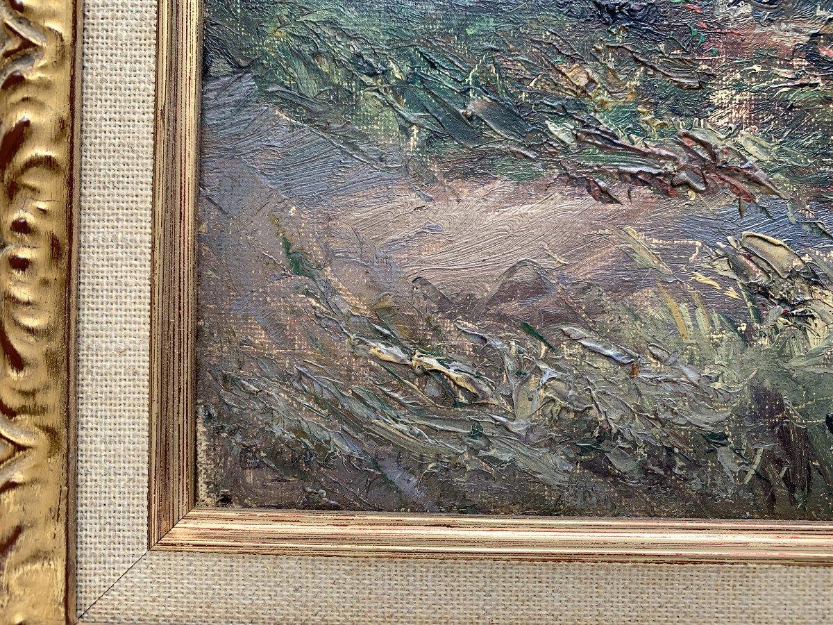 Emile Wegelin (1875-1962) - Sailboats On Lake Geneva - Oil On Canvas-photo-4