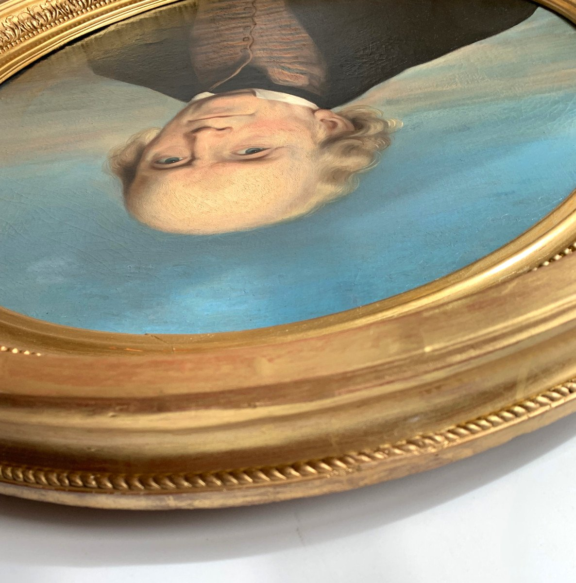 Portrait Of A Gentleman By Callande De Champmartin - 19th Century - Oil On Canvas Signed-photo-1