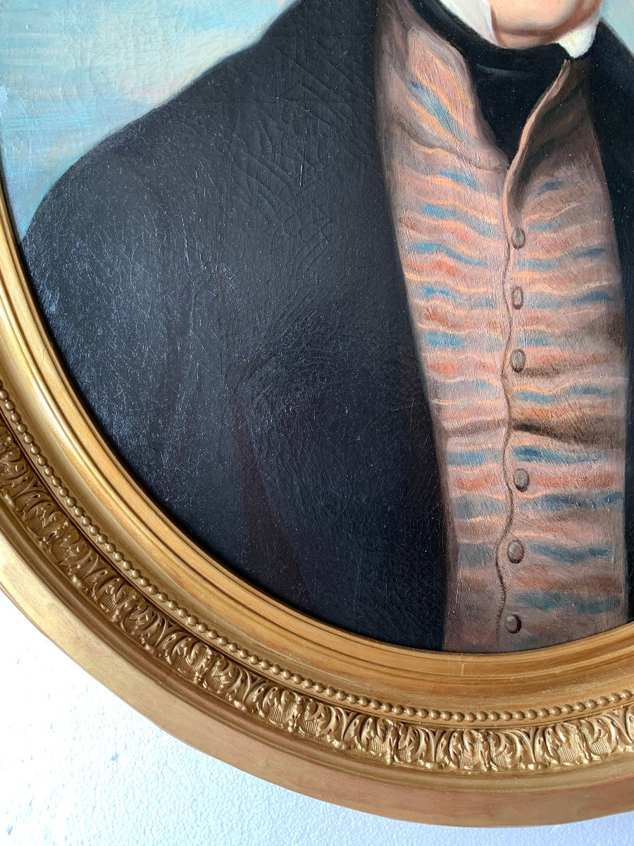 Portrait Of A Gentleman By Callande De Champmartin - 19th Century - Oil On Canvas Signed-photo-2
