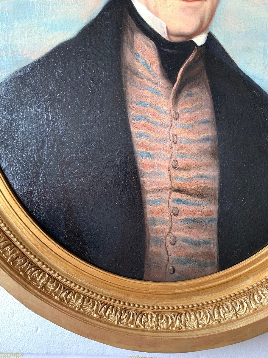 Portrait Of A Gentleman By Callande De Champmartin - 19th Century - Oil On Canvas Signed-photo-7