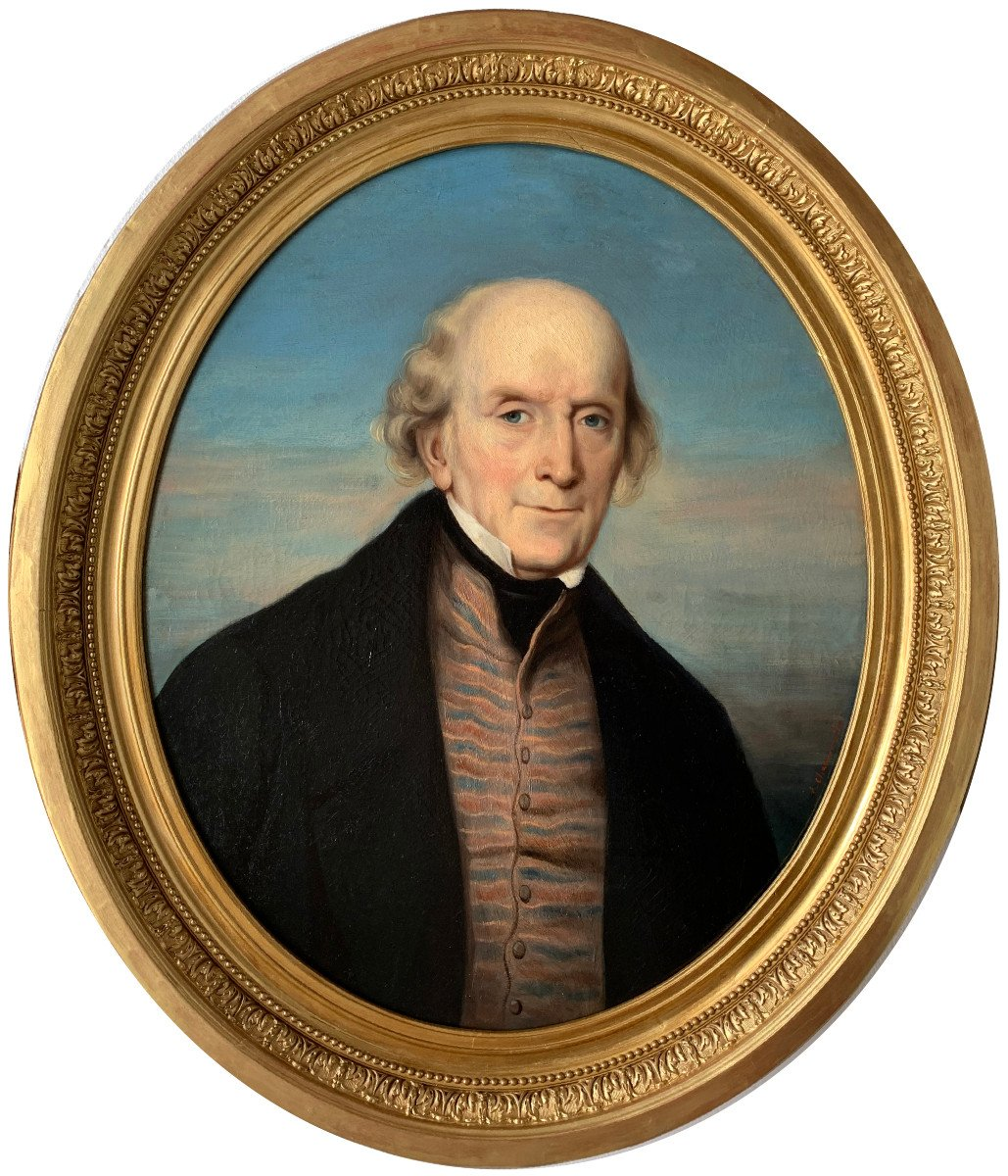 Portrait Of A Gentleman By Callande De Champmartin - 19th Century - Oil On Canvas Signed