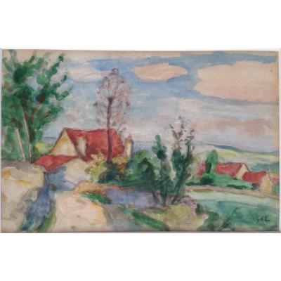 Georges d'Espagnat (1870-1950) - Paysage Du Sud - Aquarelle