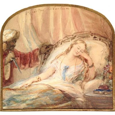 Christina Robertson (1796-1854) - Aquarelle - Othello Et Desdémone