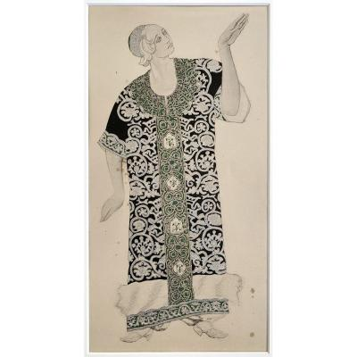 Leon Bakst - Costume For Ivan Le Terrible, 1911 - Enhanced Lithograph