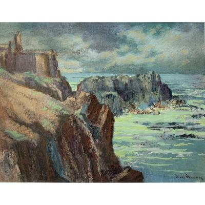 Pierre Fleury (1900-1985) - Old Castle Of Ile d'Yeu