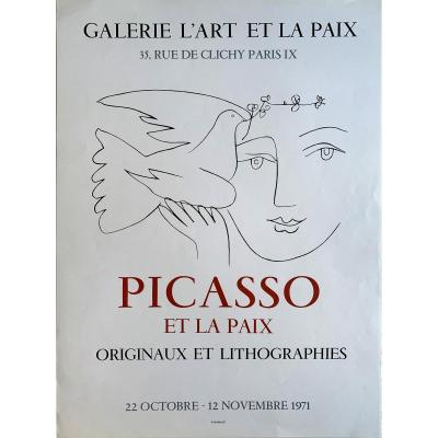 Picasso And Peace - Mourlot Poster