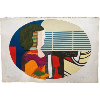 Max PAPART (1911-1994) - Profil de femme - Gravure Au Carborundum