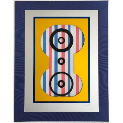 Nicolas SCHÖFFER (1912-1992) - Art Cinétique. Abstraction. Sérigraphies signées