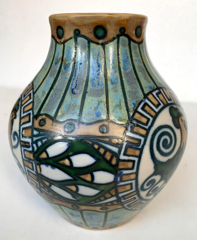 Keramis Stoneware Vase - Charles Catteau - Art Deco - 1920 - Atelier De Fantaisie-photo-3