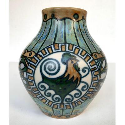 Vase en grès KERAMIS - Charles CATTEAU - Art Deco - 1920 - Atelier de Fantaisie