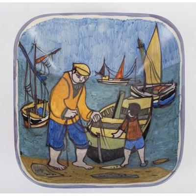 Sailors In Brittany By René Quéré